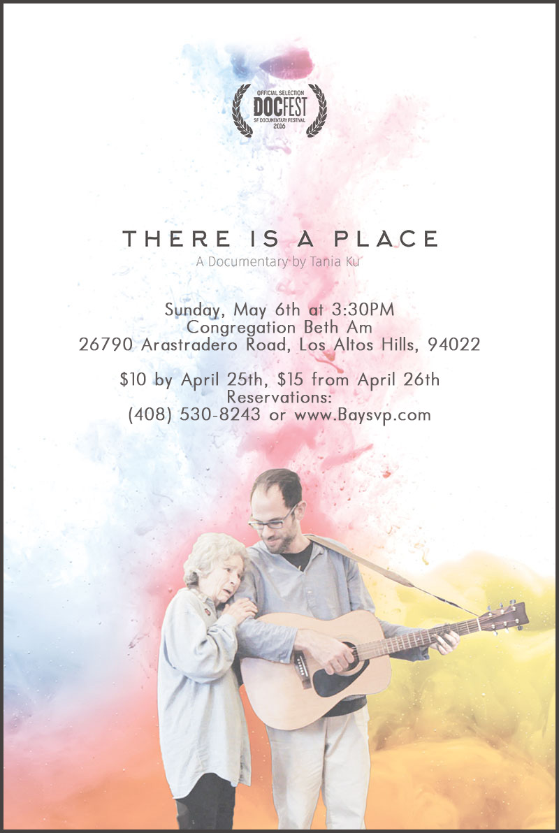"""""""There is A Place"""" – A lecture and film about Music and Alzheimer's- May 6th 2018"""
